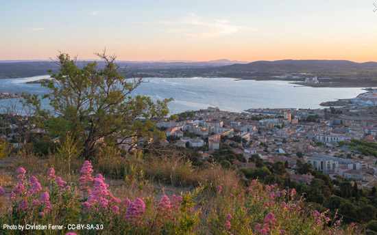 Sete France viewed from Mont St Clair.  Photo by Christian Ferrer
